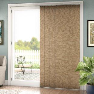 sliding door blinds lloyd adjustable double rail vertical blind (set of 4) TNLGJUK