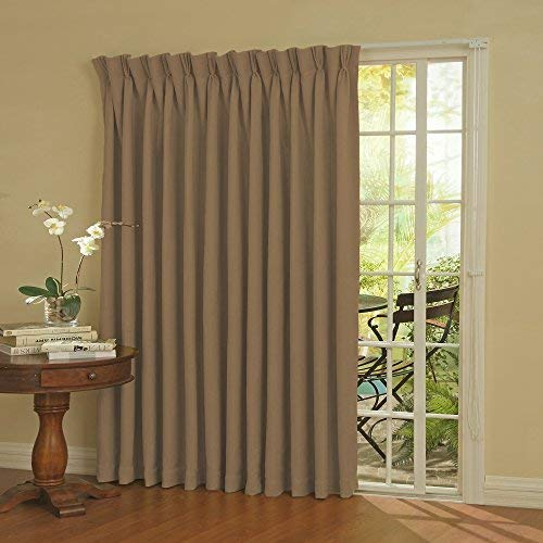 sliding door window treatments eclipse thermal blackout patio door curtain panel, 100-inch x 84-inch, wheat UTAYTBL