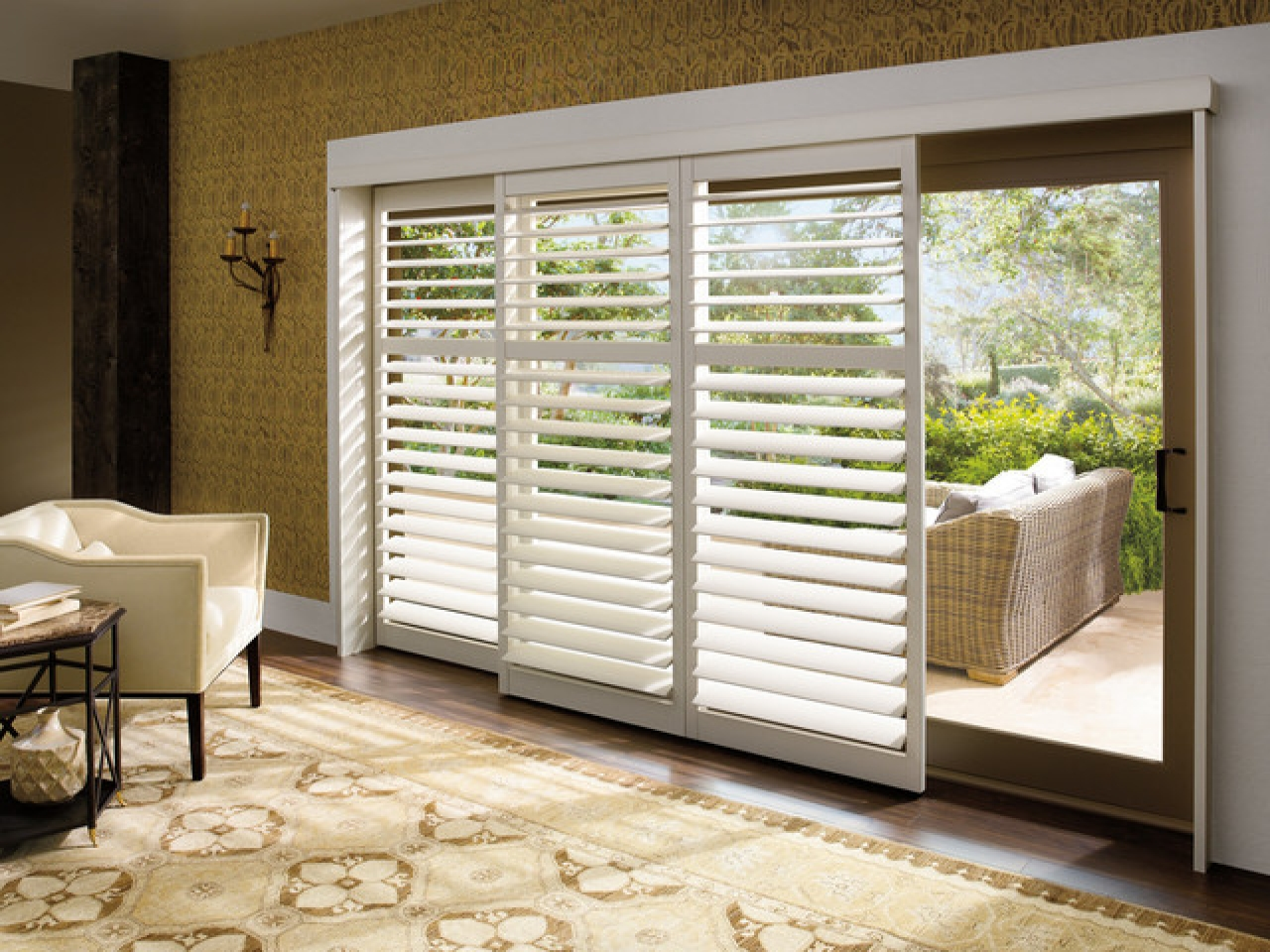 Lying Sliding Door Window Treatments