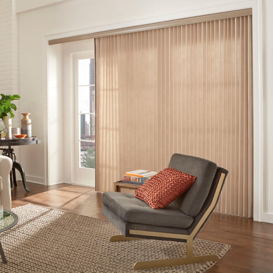 sliding door window treatments premier 2 light filtering vertical blinds YVHRETZ