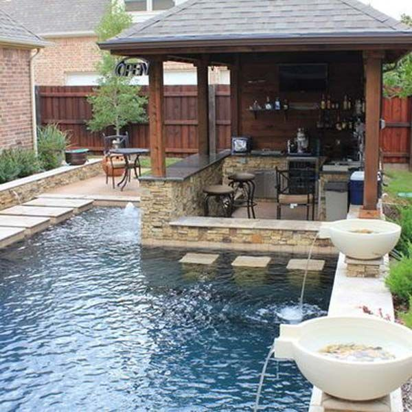 small backyard pools 28 fabulous small backyard designs with swimming pool IZAYICJ