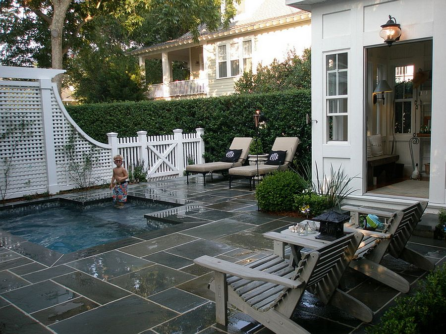 small backyard pools ... perfect petite pool for the small backyard [design: kirk wood homes] HQZGBDR