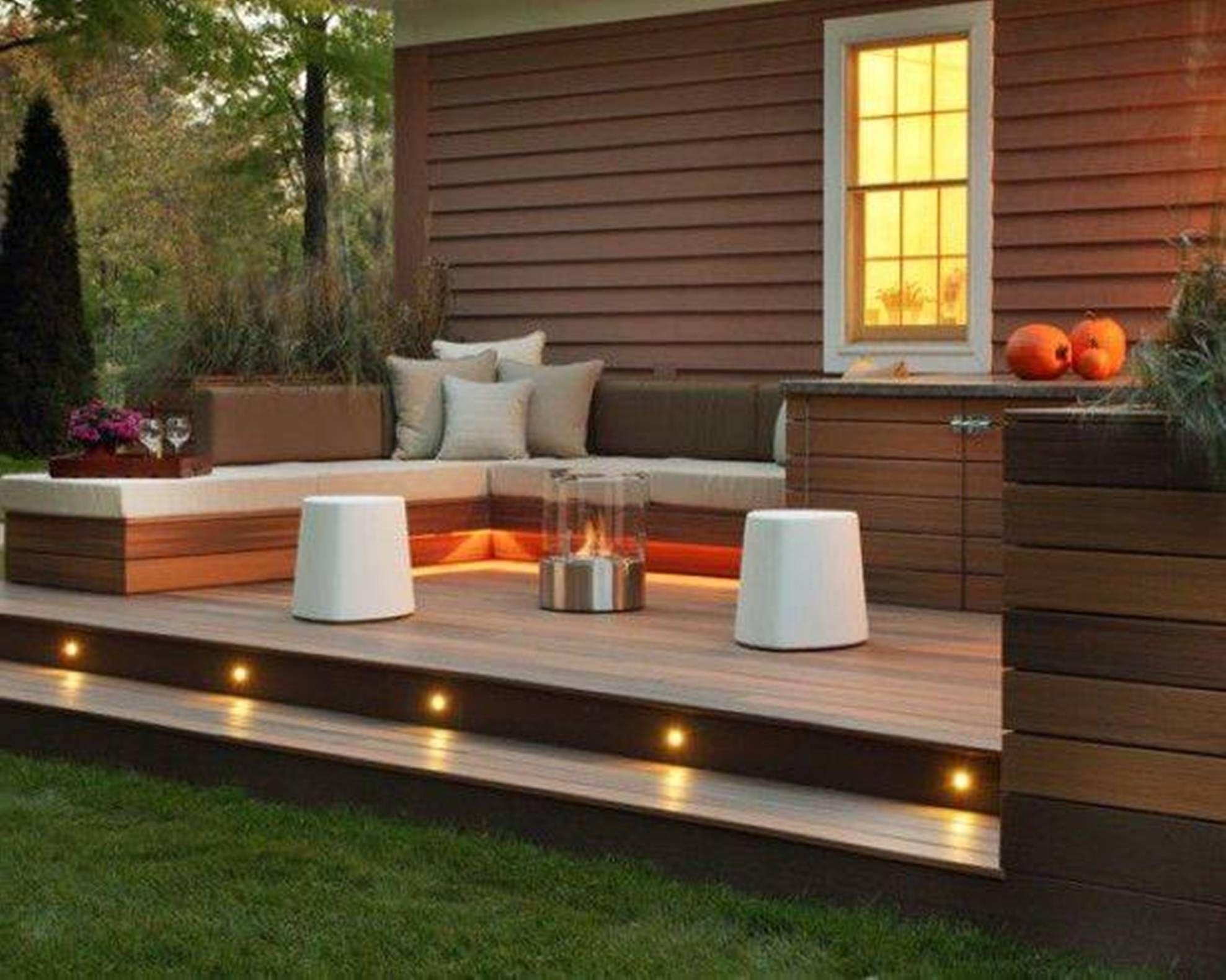 small deck ideas deck lights AAWQRLR