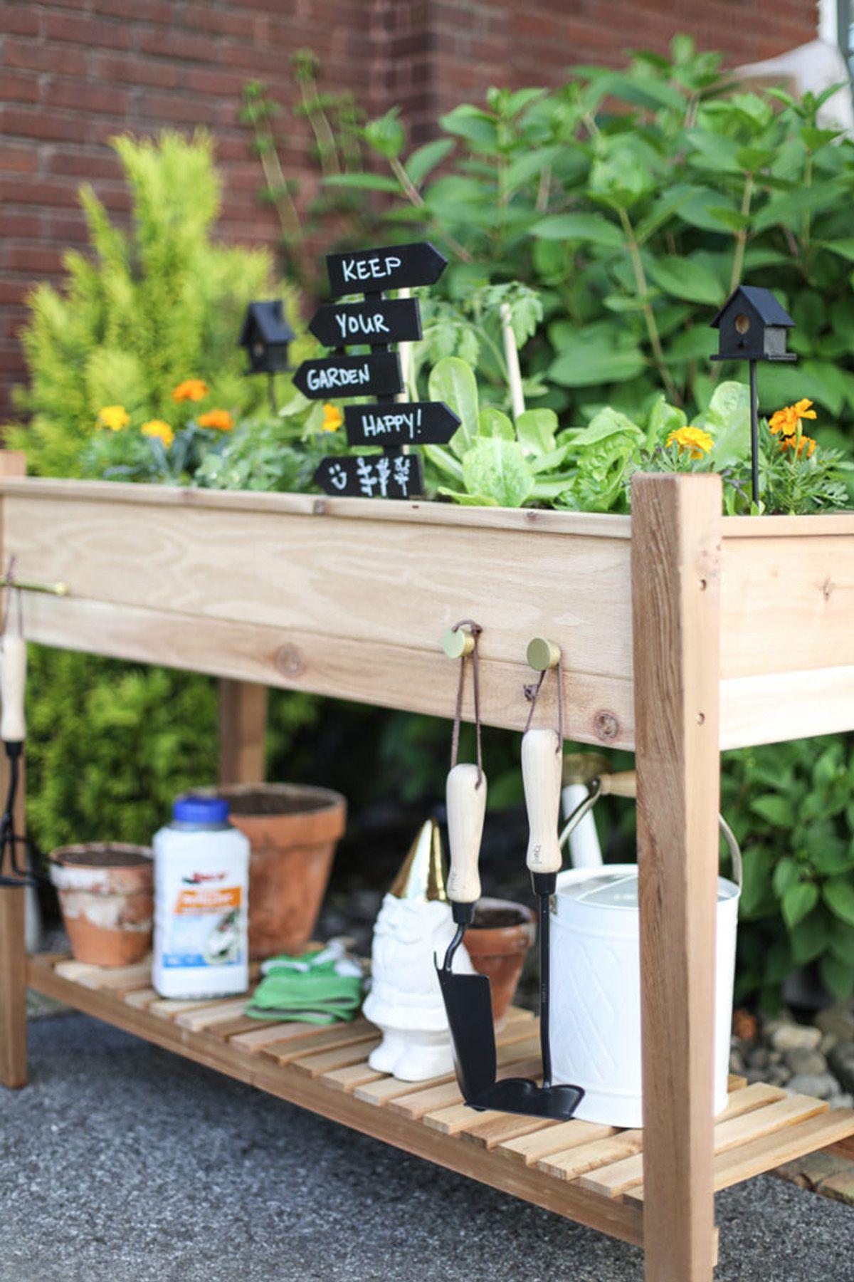 small garden design garden ideas, raised flower bed
