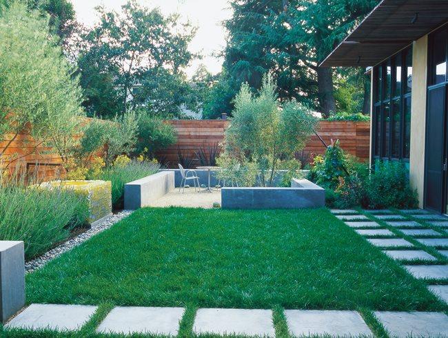 small garden design minimalist garden, small lawn small garden pictures bernard trianor +  associates GNMWQEX