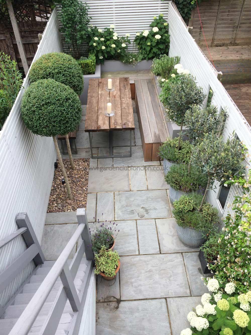 small garden design slim rear contemporary garden design