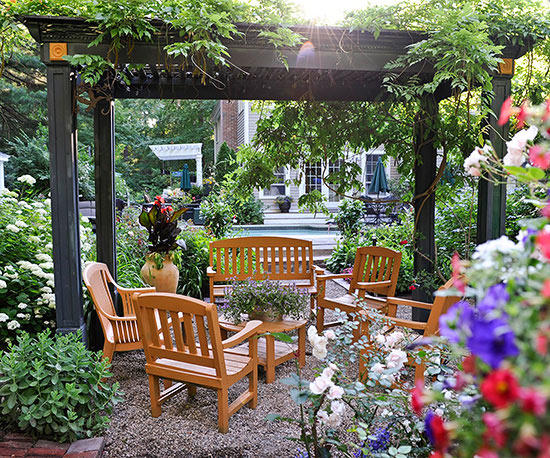 small garden ideas pergola HXNFVQG