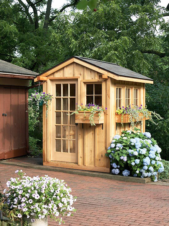 small garden shed view in gallery DHYXXJD