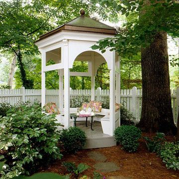 small gazebo small-space gazebo: even the smallest yards can incorporate a gazebo for SEQJCAN
