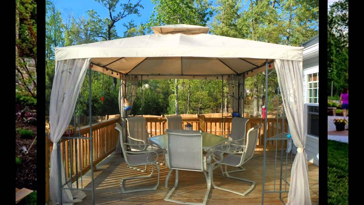 small patio gazebo ideas - youtube UAYCYQG