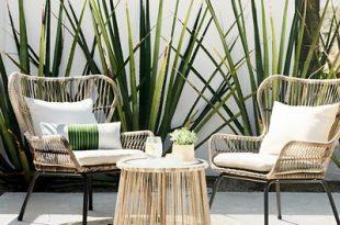small patio table latigo 3pc all-weather wicker outdoor patio chat set - tan - threshold™ PMGZAUY