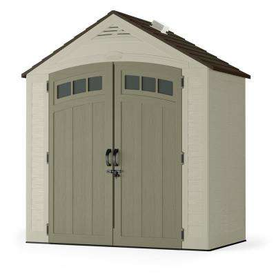 small sheds vista 7 ft. 4 in. x 4 ft. 1 in. resin storage JVGENOQ
