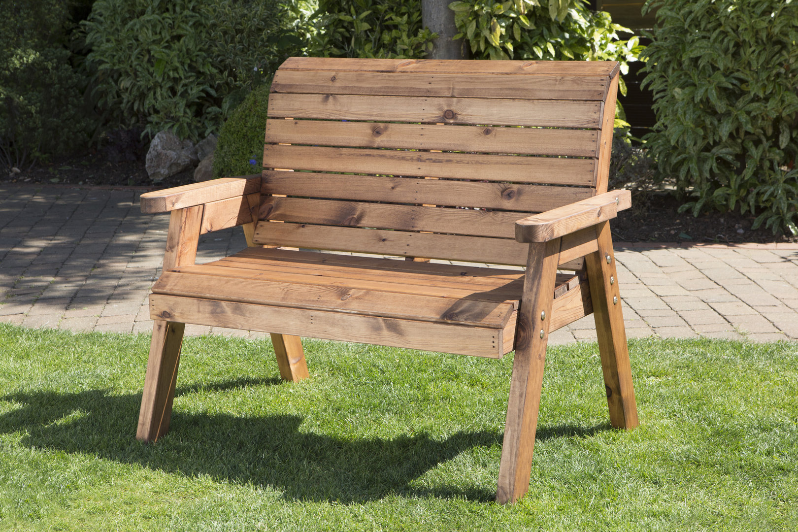 small wooden garden benches BYXKABQ