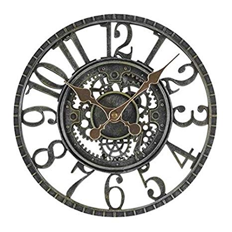 smart garden newby mechanical style rustic outdoor garden clock SWUUXHN