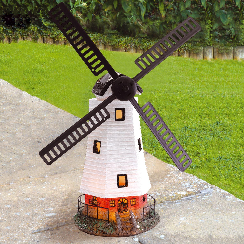 solar powered light up traditional garden windmill decorative FLZDUMO