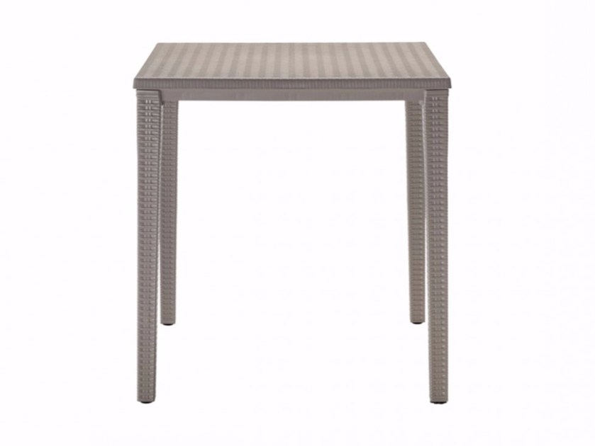 stackable square plastic garden table orazio | square table by scab design OGRGQAJ