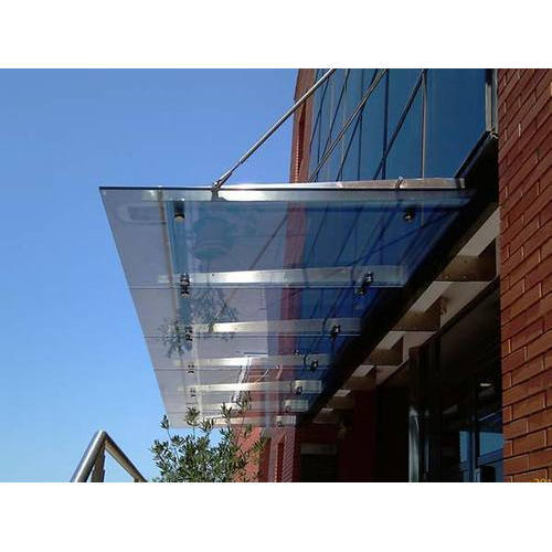 stainless steel glass canopy KUQAJOA