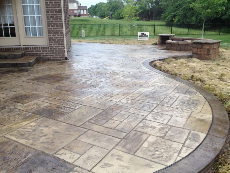 stamped concrete patio shapes WMBYQCB - Decorifusta