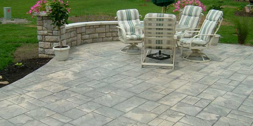 stamped concrete patio stamped ashlar concrete patio FKFAXCU