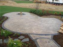 stamped concrete patio stamped patio with decorative border CTSUSID
