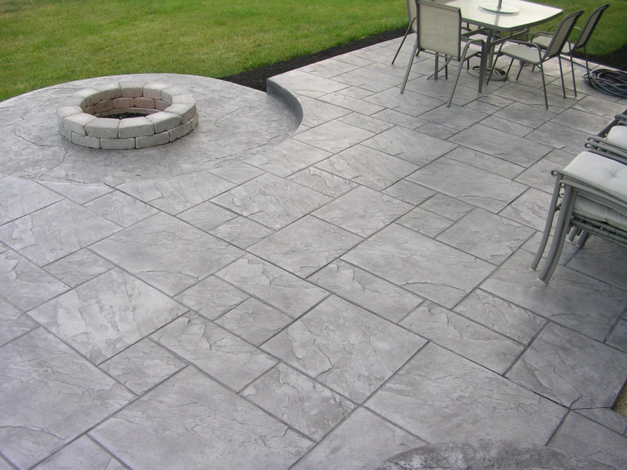 stamped concrete patio vs pavers GHDTNVV