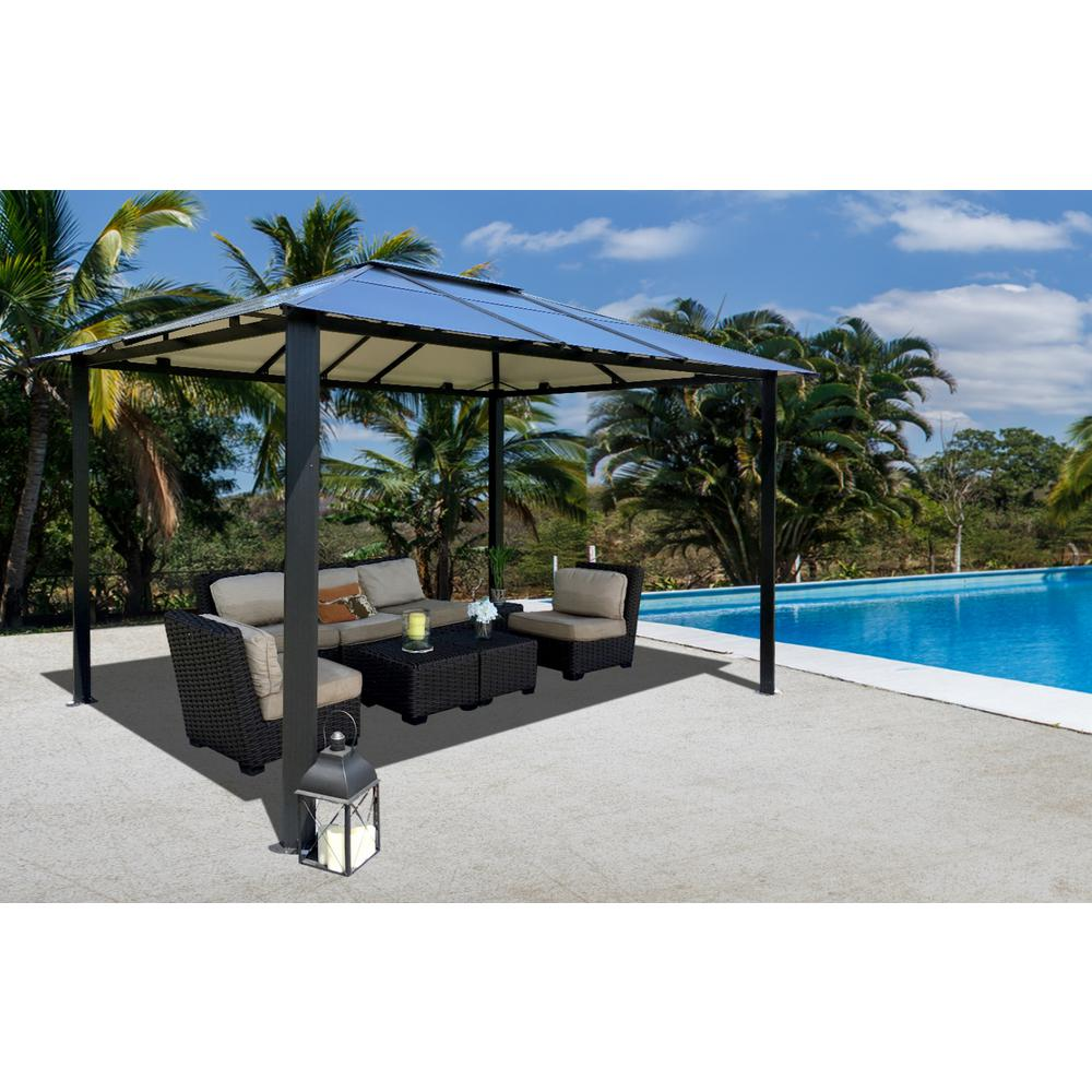 stc paragon-outdoor 10 ft. x 13 ft. bermuda hard top gazebo UAGRYRK