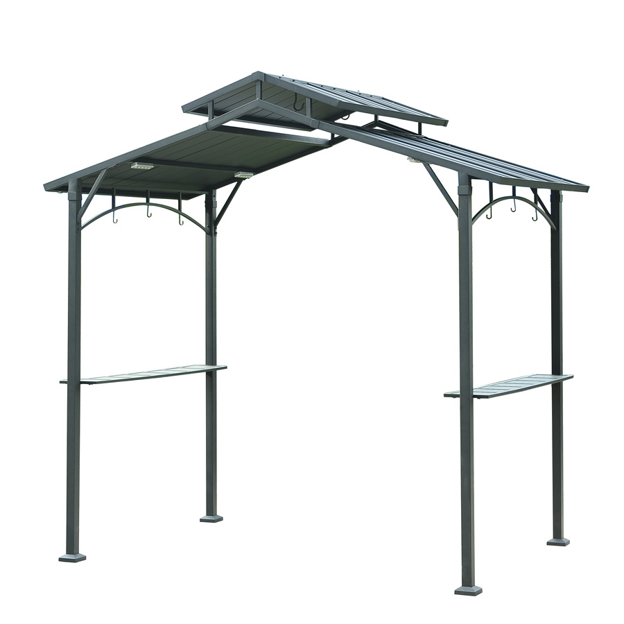 steel gazebo display product reviews for matt black metal rectangle grill gazebo  (exterior: DZZLJCV