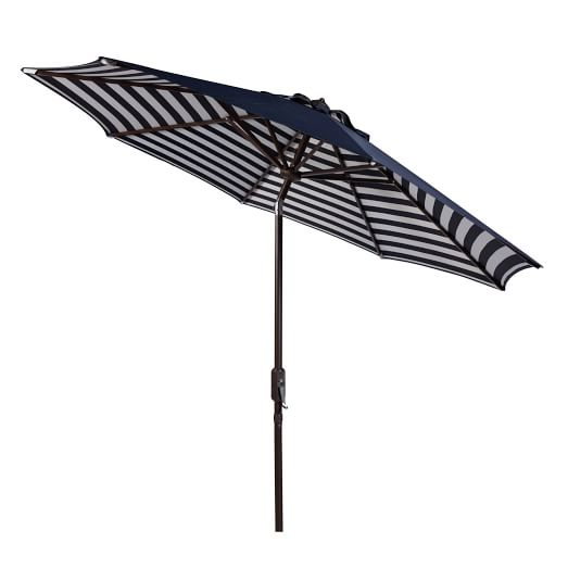striped outdoor umbrella - navy/white BCUAWDK