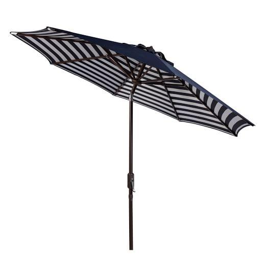 striped outdoor umbrella - navy/white BCUAWDK