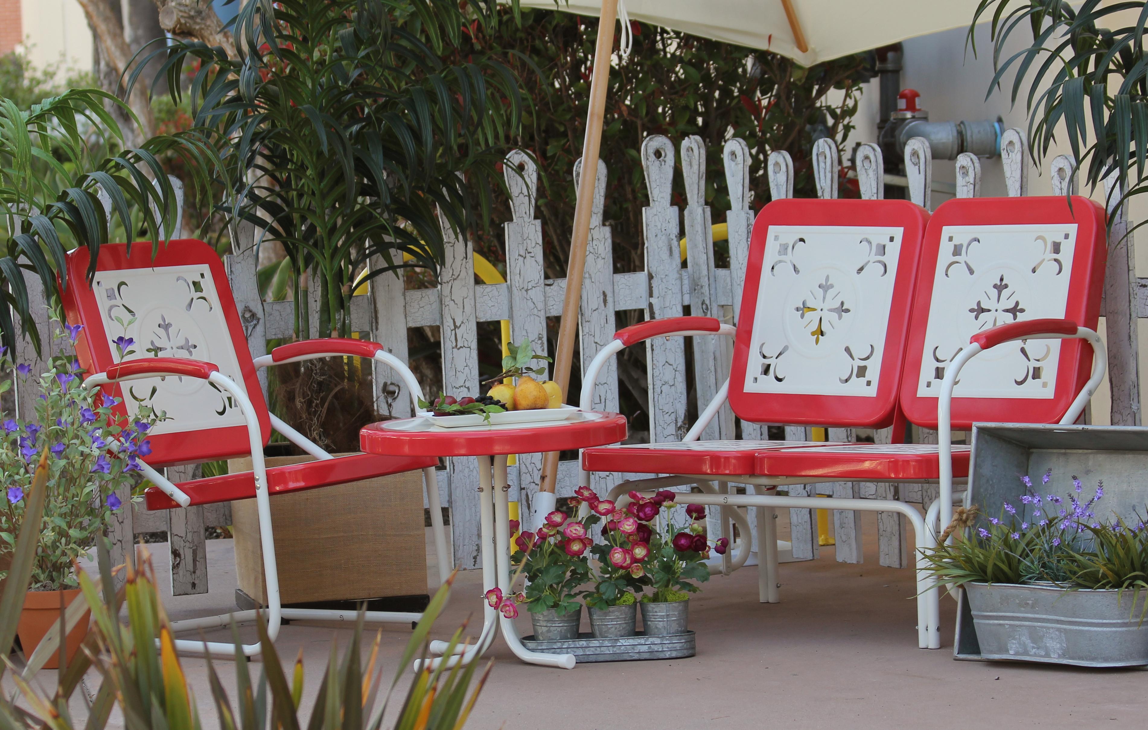 summerland vintage patio furniture-tomato KOCJSOE