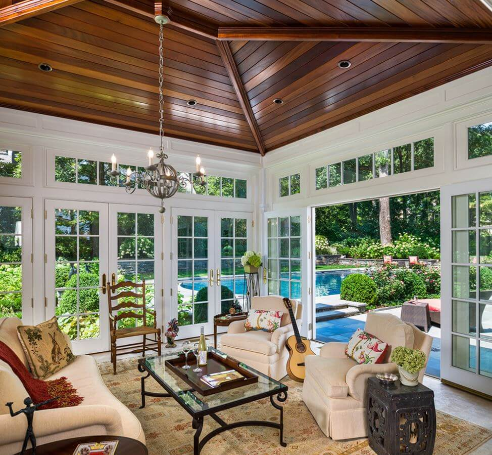 sun room sunroom has glass doors instead of windows WFALZZV