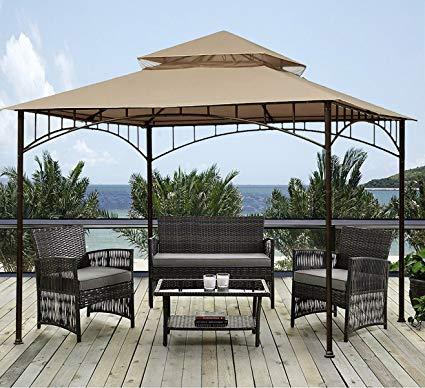 sunjoy 10u0027 x 10u0027 grove patio canopy gazebo WXUTQVS