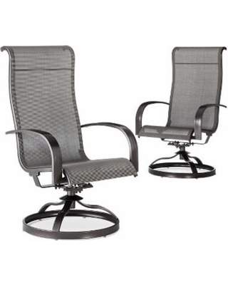 swivel patio chairs patio dining chair: threshold camden 2-piece sling patio swivel rocker set GFZCBUE