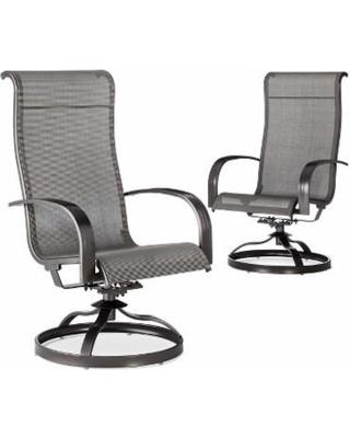 swivel patio chairs patio dining chair: threshold camden 2-piece sling patio swivel rocker set GFZCBUE