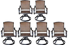 swivel patio chairs wicker swivel rocker patio chairs set of 6 outdoor cast aluminum furniture REKRBYK