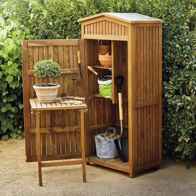 teak garden storage YMIJWEC