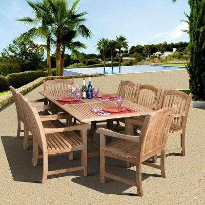 teak patio furniture newcastle 9-piece teak patio dining set VBUTKIB