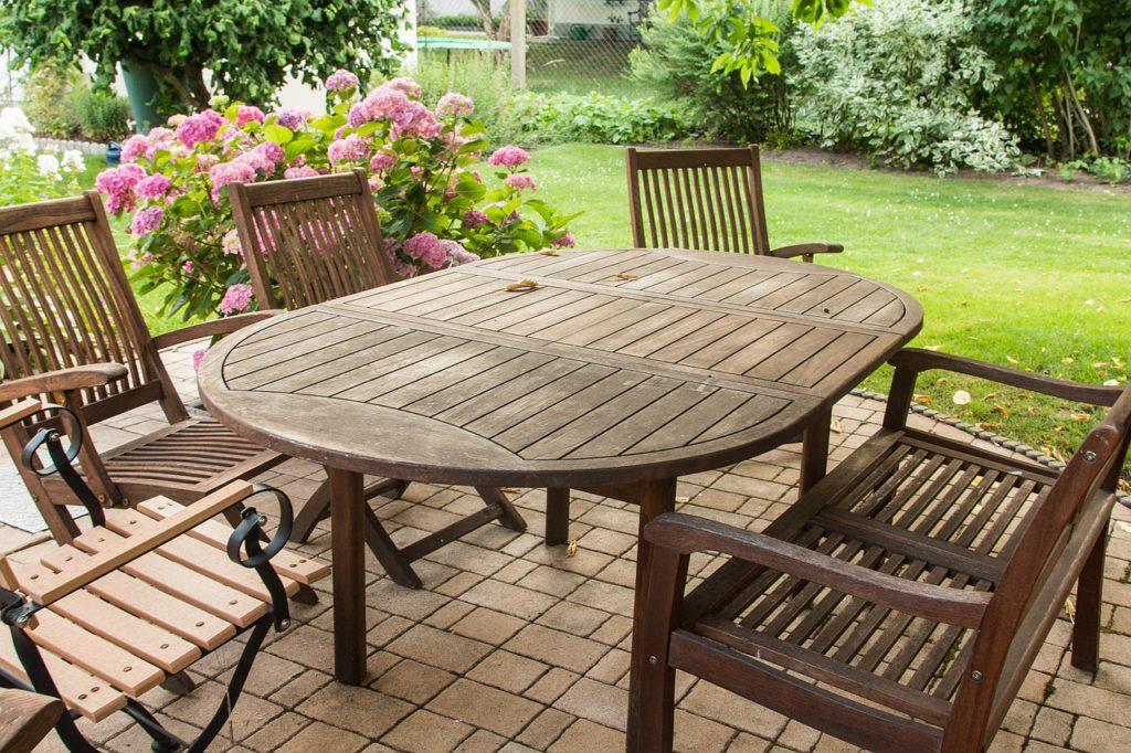 teak patio furniture teak-wood-garden-furniture-oval-table EYRLNNV