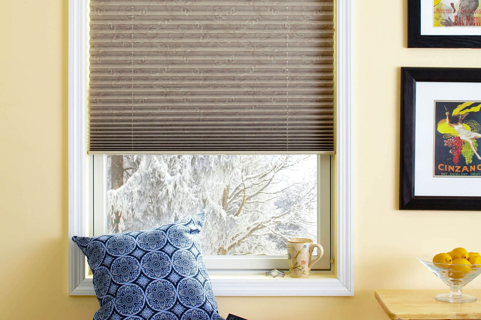the blackout liner on these foliage pleated shades help keep light out XPPCUFL