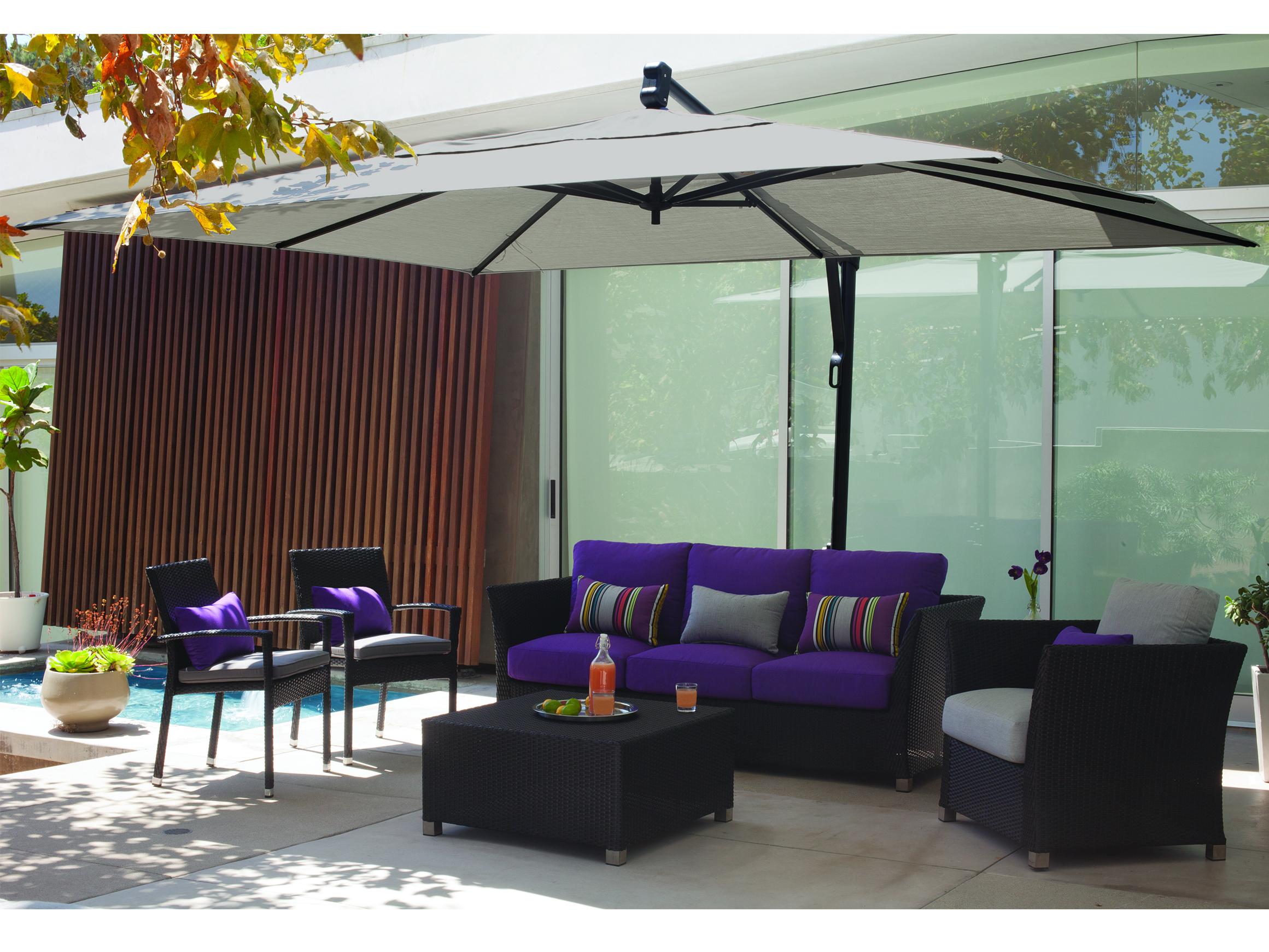 treasure garden cantilever aluminum 10 x 13 foot cantilever umbrella ... LXDFERA