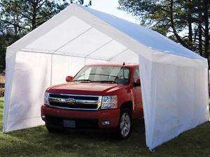 true shelter 12u0027 x 20u0027 car canopy gazebo tent cover 8 legs ZLOKPTZ