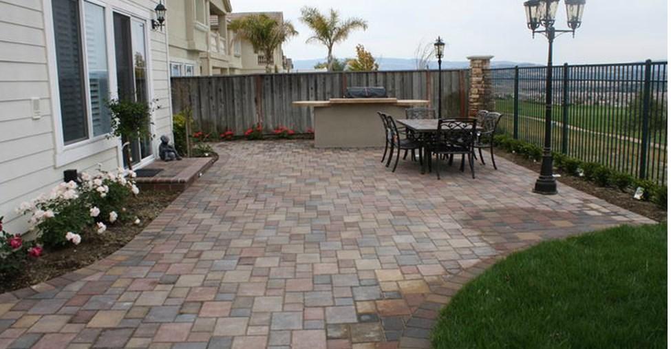 using concrete pavers for flooring around home - carehomedecor IRLTCEB