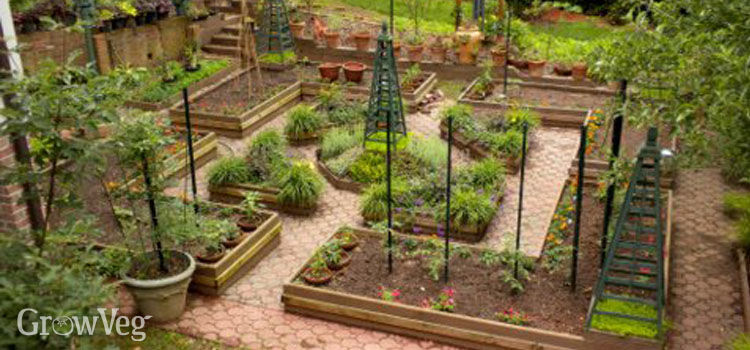 vegetable garden design how to design a potager garden LHJPMYG