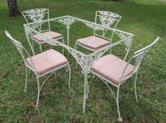 vintage patio furniture vintage wrought iron patio table set BCLAIBB