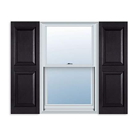 vinyl shutters amazon.com: 15 inch x 43 inch standard raised panel exterior vinyl shutter, FAFCXKB