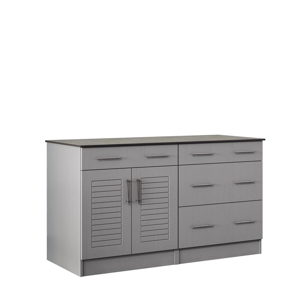 weatherstrong key west 59.5 in. outdoor cabinets with