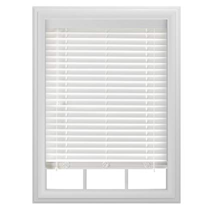 white blinds bali blinds 2 faux wood corded, 39x64, white VDRYQSW