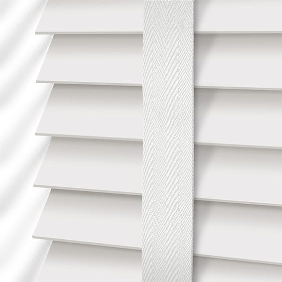 white blinds true white u0026 linen faux wood blind - 50mm slat NDJUDLP