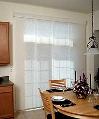 white fabric panel track blinds ONDVDXQ