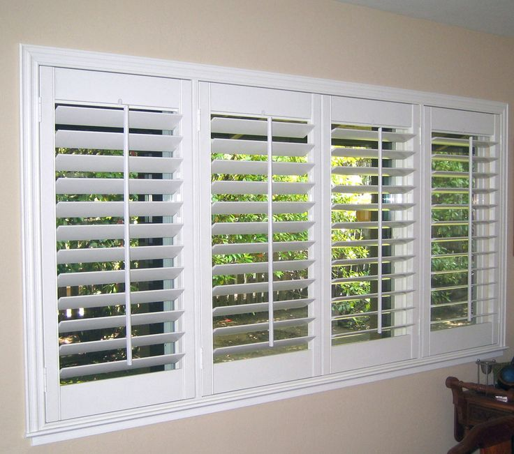 white indoor wooden window shutters OTQPFBH